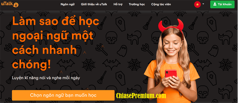 ung dung hoc ngoai ngu uTalk Chiasepremium - Đánh giá nhanh tài khoản uTalk 2021 - Rất tốt cho người mới bắt đầu
