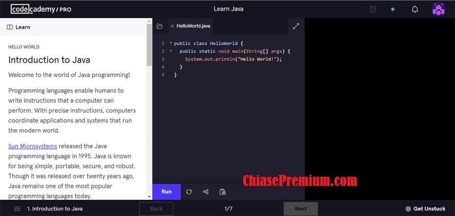 Giao dien hoc tap tren tai khoan Codecademy pro - Tài khoản CodeCademy Pro 2020 - nền tảng học lập trình không thể thiếu