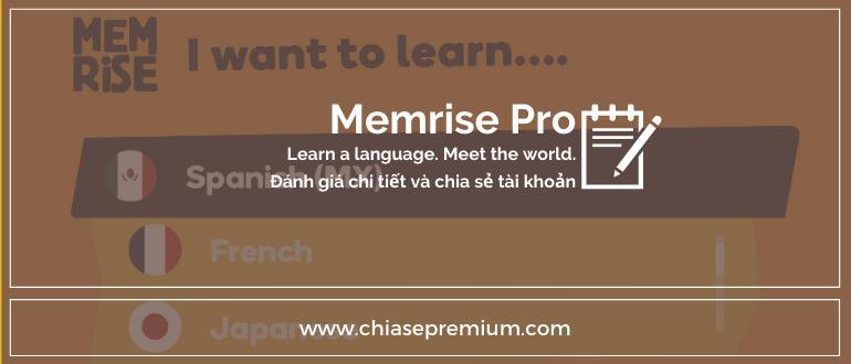 Chia sẻ tài khoản Memrise Pro.