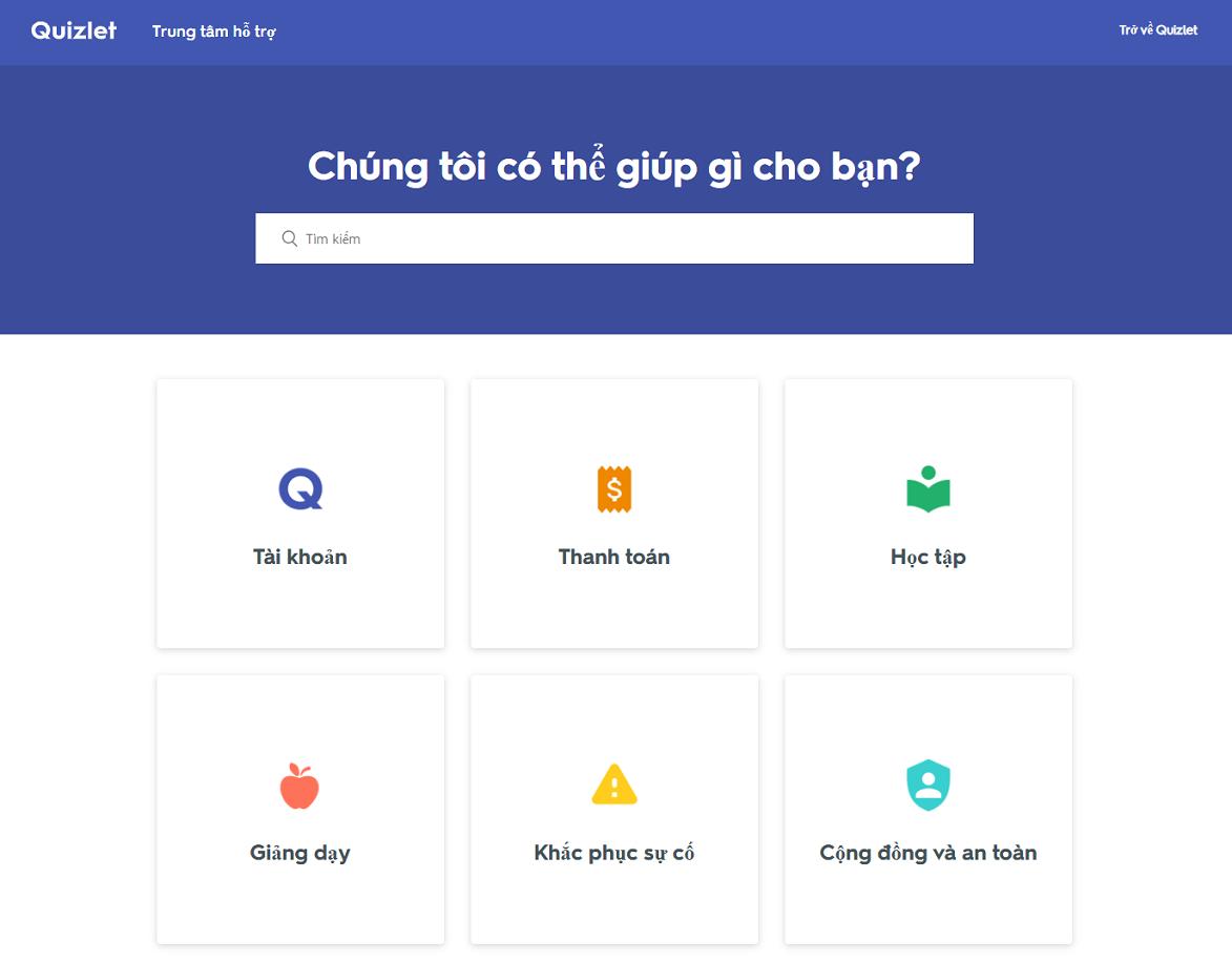 5 Trang ho tro su dung Quizlet hoan toan tieng Viet - Hướng dẫn dùng ứng dụng Quizlet và chia sẻ tài khoản trải nghiệm Quizlet Plus & Teacher 2020
