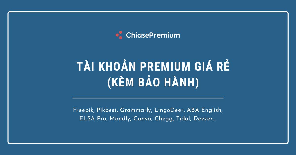 Có 2 gói đăng ký tài khoản premium: gói Combo và gói lẻ
