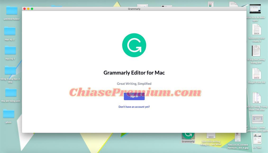 Hướng dẫn sử dụng Grammarly trên máy tính Mac (tiếp theo)