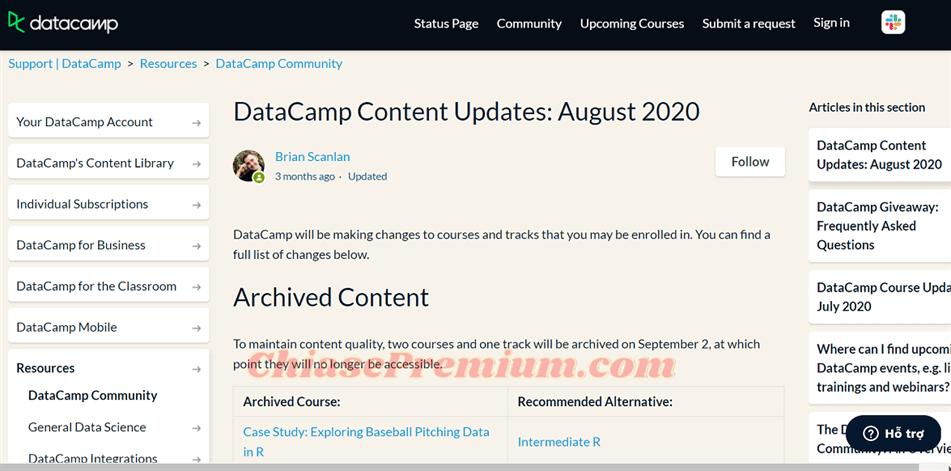 3 Nhung nang cap ve noi dung tren Datacamp - Đánh giá nhanh tài khoản DataCamp - Học lập trình R không khó!