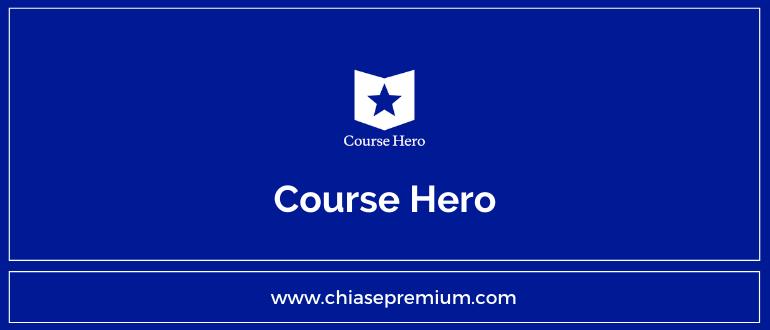 Chia sẻ tài khoản Course Hero và nhận Unlock link cho các bạn.