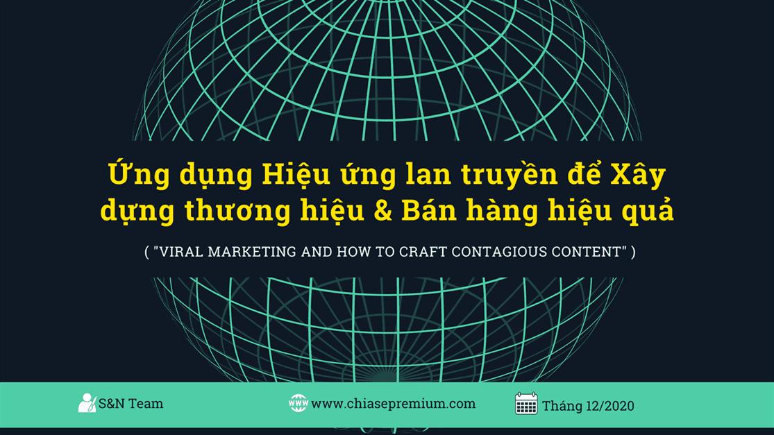 Ứng dụng Hiệu ứng lan truyền để Xây dựng thương hiệu và Bán hàng hiệu quả.