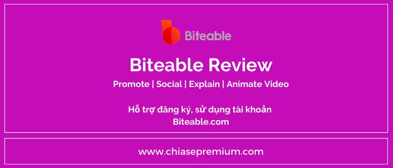 Tài khoản Biteable- Công cụ thiết kế Animate-Explain-Social-Promote video online chuyên nghiệp.